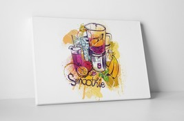"""Fresh Fruit Smoothie Kitchen Wall Art Gallery Wrapped Canvas. 30""""x20 or 20""""x16"""" - $44.50+"""