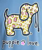 Puppie Love Rescue Dog Adult Unisex Short Sleeve Graphic T-Shirt, Leopard Pup image 2
