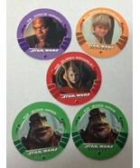 5 Pc Lot Vintage Star Wars Pogs Episode 1 Mace Anakin Nass Queen Amidala - $10.40