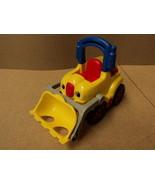 Fisher Price Bulldozer 5in W x 9in L x 7in H Yellow/Red/Black Plastic - $15.16