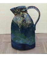C. SCHAFER Handmade Multi-Color Home Decor Ceramic Pitcher Vase - £37.68 GBP