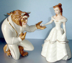 Lenox Disney Beauty & The Beast 2 Figurines My Hand My Heart is Yours BE... - £152.60 GBP