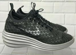 Rare Nike Lunarlon Lunarelite Sky Hi Paris Gray High Top Trainers Sneake... - $99.99