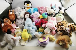 Lot Of 28 Used Webkinz No Tag Batik Elephant Whimsy Dragon Penguin Holstein Cow - $100.00