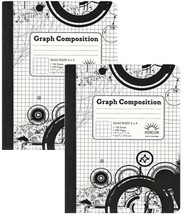 4 x 4 Ruled Graph Composition Book (Pack of 2 Books) - $7.42