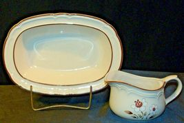 Cumberland Stoneware Mayblossom Gravy Bowl & Serving Pitcher AA-192035-E  Vintag image 6