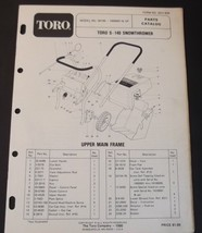Toro S140 Snowthrower Parts Catalog Model 38100 Serial 1000001 and Up - $12.99
