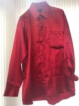 Mens Shirt (16-16.5 34/35) Milano Moda Red Long Sleeve Ships N 24h - $31.99