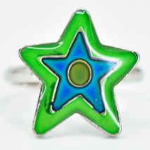 Kid's Fashion Silver Tone Star Color Changing Fashion Adjustable Mood Ring image 3
