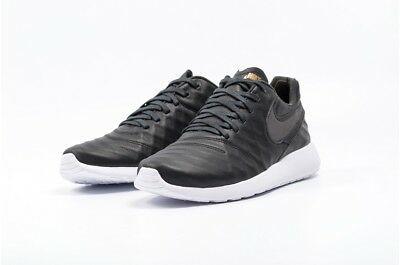 Nike Roshe Run Tiempo VI QS Black/Gold White Leather 853535-007 Sneakers 9.5