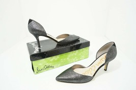 Sam Edelman Opal Women's High Heels Pumps Pewter Grey Rasputin Leather US 8.5 M - $30.44
