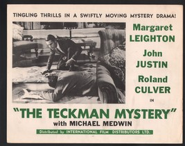 Teckman Mystery Lobby Card- Michael Medwin looking at a body on the floor - $28.03