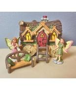 Fairy Garden Fairy Wagon Set 5 Pieces Wagon Ladder 2 Fairies Bench - $39.00
