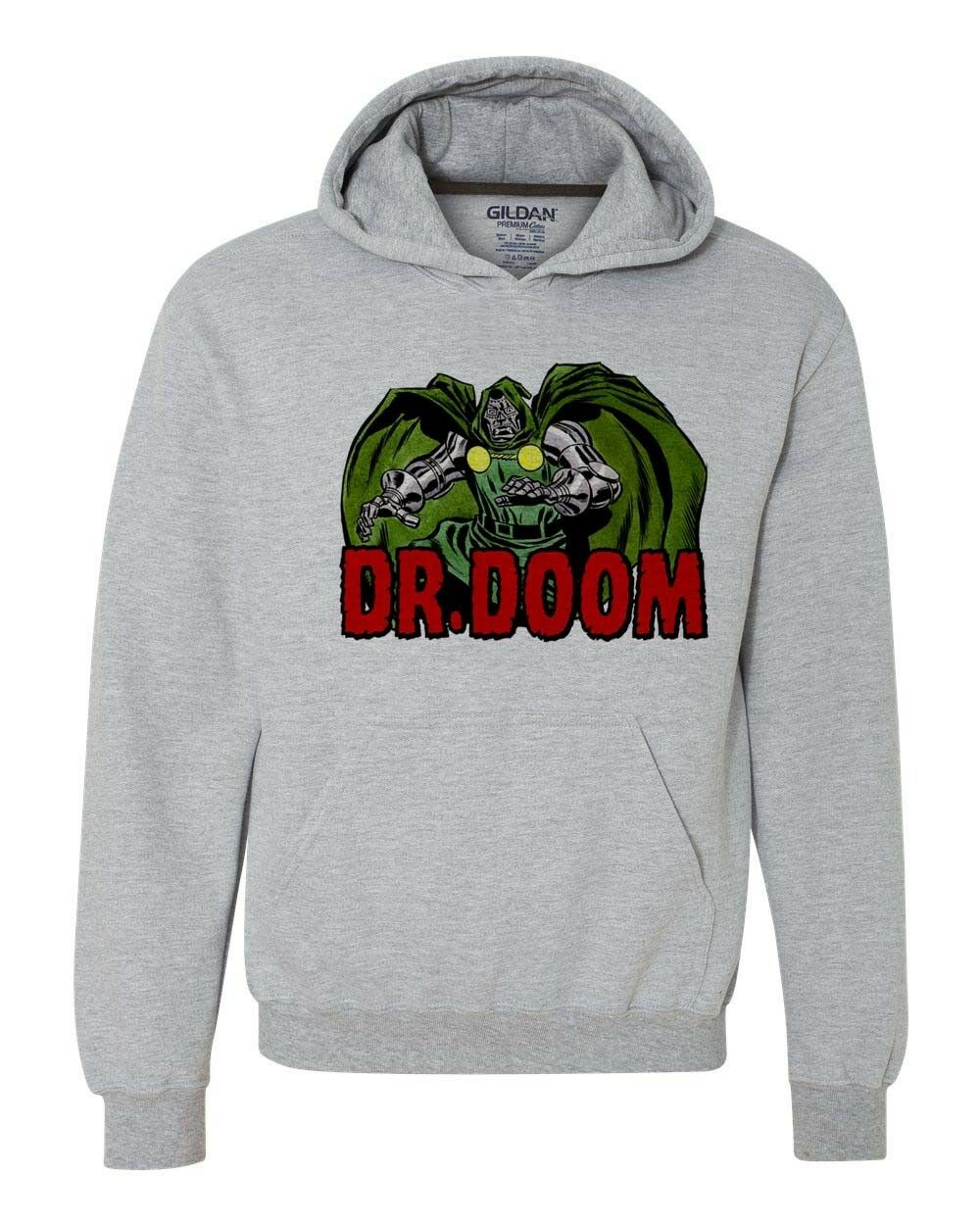 Dr Doom Hoodie retro marvel comics fantastic four silver age comic book 1970s