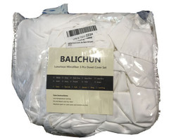 Balichun Duvet Cover Set Queen Size White Premium + Zipper Closure Hotel... - $49.45