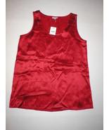 New Designer J. Jill 100% Silk Cami Red Tank XS Womens Sleeveless Top NWT  - $89.00
