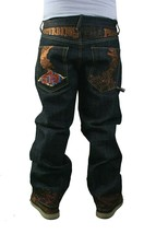 The Year Of DTP Ludacris Disturbing The Peace No War Raw Blue Jeans NWT Size: 38 image 2
