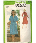 9062 Vintage Simplicity Sewing Pattern Misses Pullover Dress Elastic Wai... - $6.26