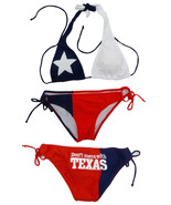 TEXAS FLAG DON'T MESS WITH TEXAS TWO PIECE AMERICA USA BIKINI BATHING SUIT S-XL - $32.80 - $32.85