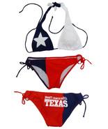 TEXAS FLAG DON'T MESS WITH TEXAS TWO PIECE AMERICA USA BIKINI BATHING SU... - $32.80+
