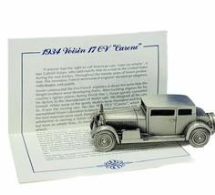 Danbury Mint classic car world pewter model coa vtg 1934 Voisin 17 CV 17... - $28.91