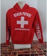 Virginia Beach VA Beach Patrol Red Distressed Hoodie Sweatshirt Size Med... - $24.49