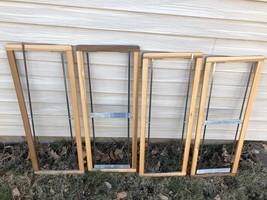 Set 4 Vintage Wooden Floor Weaving Loom Large Shaft Frames Parts 35.5 x ... - $130.54 CAD