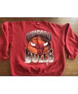 Vintage 90s Logo 7 Chicago Bulls Sweatshirt Jordan Pippen 3-peat USA - $23.75