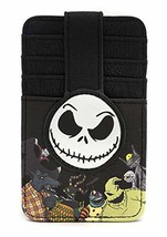 Loungefly Nightmare Before Christmas Jack Cardholder Wallet , Black , Small - $23.04