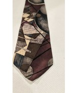 Van Heusen 417 Vintage Mens Tie abstract pattern 100% silk - $7.92
