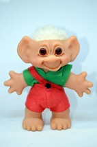 "Troll Doll Vintage Denmark Thomas Dam 6"" Original Clothes Amber Eyes - $22.80"