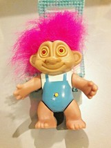 Soma 1992 Glo Light Troll, Pink Hair, Light up Eyes - $12.50