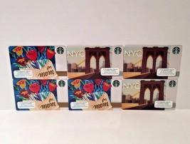 Starbucks For Mom Brooklyn Bridge NYC Gift Card Lot 6 No Value - $6.99