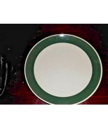 """Gibson Dinner Plate White with Green Rim Band 10"""" Diam - $10.39"""