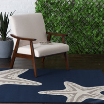 "5x7 (5' x 7'3"") Starfish Nautical Tropical Coastal Blue Indoor Outdoor A... - €86,31 EUR"