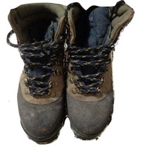 Oak Harbor Blitz Womens Boots Hiking Trail lace up Shoes size 4 Navy Tan - $17.74