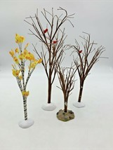 Department Dept 56 Village Accessories 3 Winter Trees w/ Cardinals 1 Sma... - $19.94