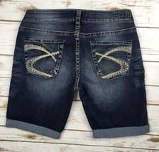 Silver J EAN S Shorts Buckle Mid Rise Aiko Jean Denim Cuffed Short 29 - $24.97
