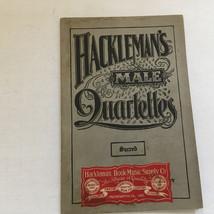 vintage  old Hackleman's male quartettes sacred song book church choir m... - $18.76