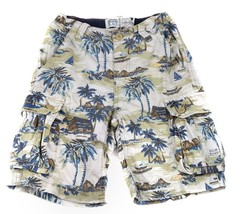 The Childrens Place Cargo Vacation Shorts Palm Trees Tropical Pockets Ka... - $10.88