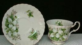 Lovely * TRILLIUM * Tea Cup & Saucer by ROYAL ALBERT China EUC - $12.36