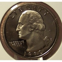 1992-S DCAM Clad Proof Washington Quarter PF65DC #867 - $3.19