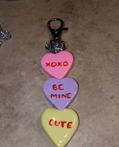 Sweet Conversation Heart Keychain Clay Candy Accessory Women's Valentine... - $7.00