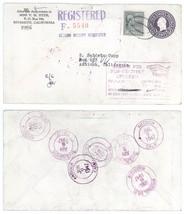 1947 Riverside - Antioch CA Returned Refused REGISTERED Cover w/ Scott #828 - $12.19