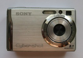 Sony Cyber-shot DSC-W90 8.1MP Digital Camera SteadyShot Silver + Case Logic Case - $14.84