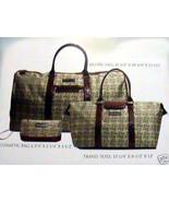 Karen Neuburger Luggage 3 PIECE TOTE SET WITH ADJUSTABLE SHOULDER STRAP NEW - $149.90
