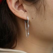 925 sterling silvler tassel chain earring elegance girlfriend gift fine ... - $25.49