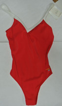 Nwt Liz Claiborne Vtg One Piece Swimsuit Red Usa Flag 16 - $20.39