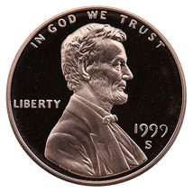 1999-S Lincoln Memorial Cent Penny Gem Proof US Mint Coin Uncirculated UNC - $7.99