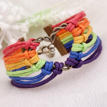LGBT Bracelet, Gay Pride Bracelet, Rainbow Bracelet, Lesbian Jewelry *Fr... - $8.99